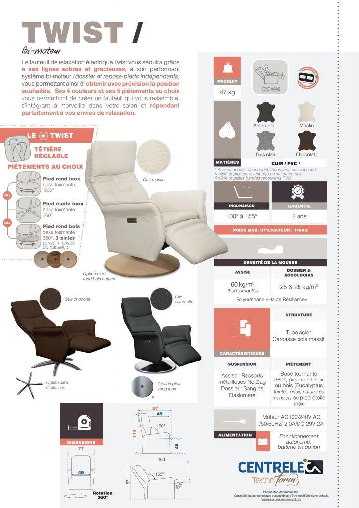 Canapé Relaxation Centrelec Techniform SOFT RELAX