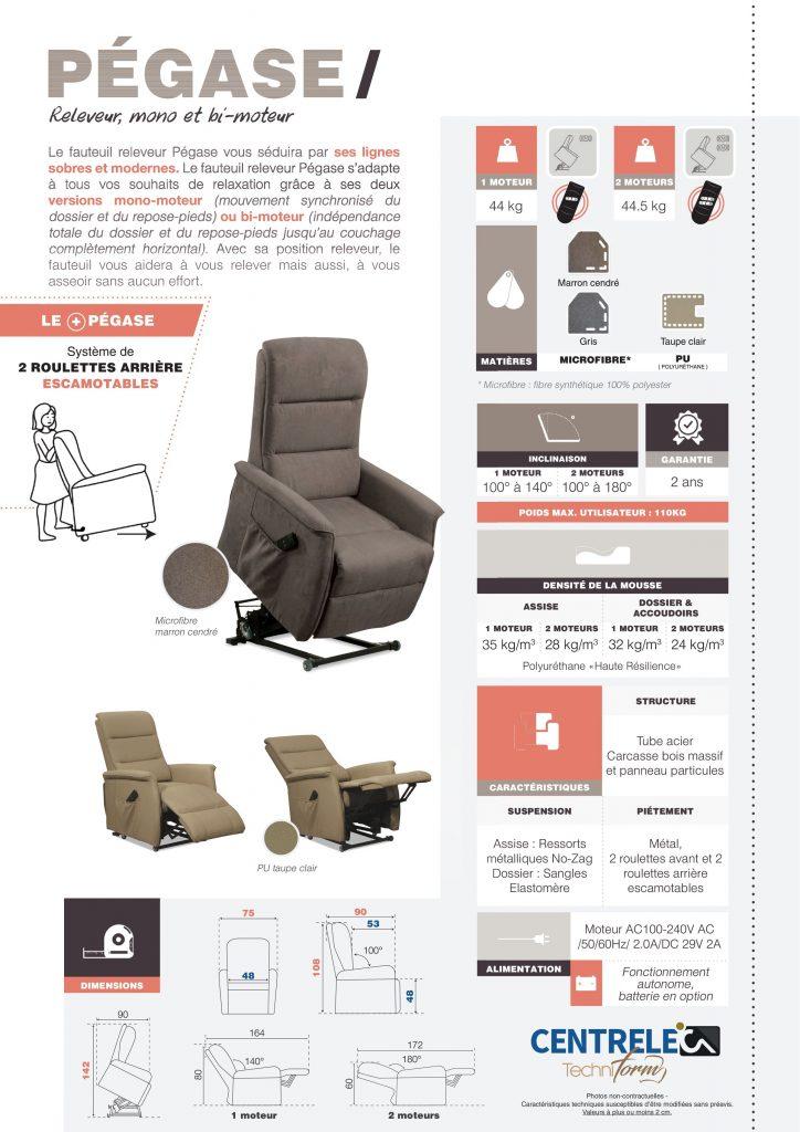 Fauteuil Relaxation Centrelec Techniform PEGASE