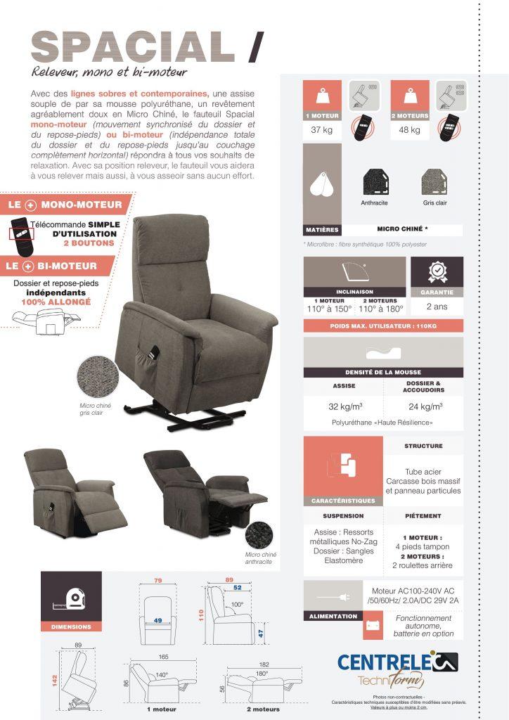 Fauteuil Relaxation Centrelec Techniform SPACIAL