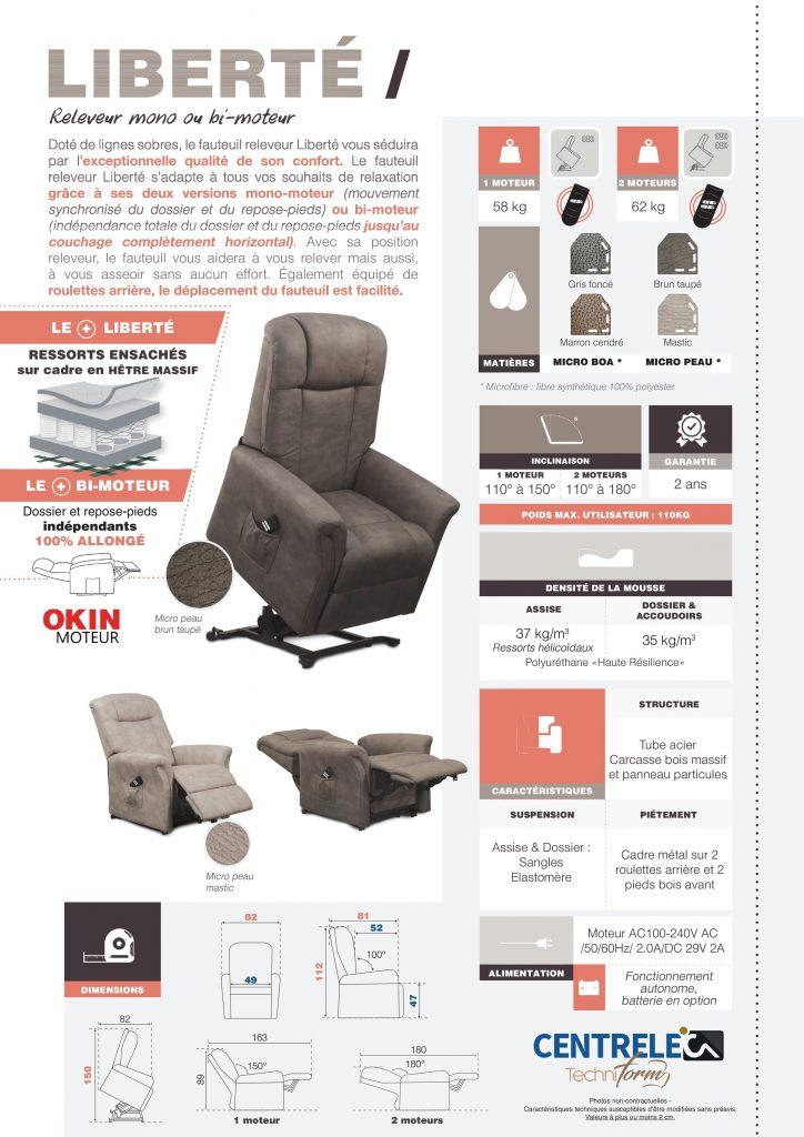 Fauteuil Relaxation Centrelec Techniform LIBERTE