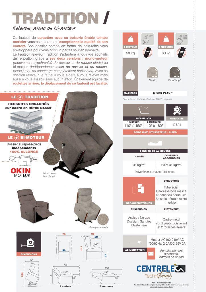Fauteuil Relaxation Centrelec Techniform TRADITION