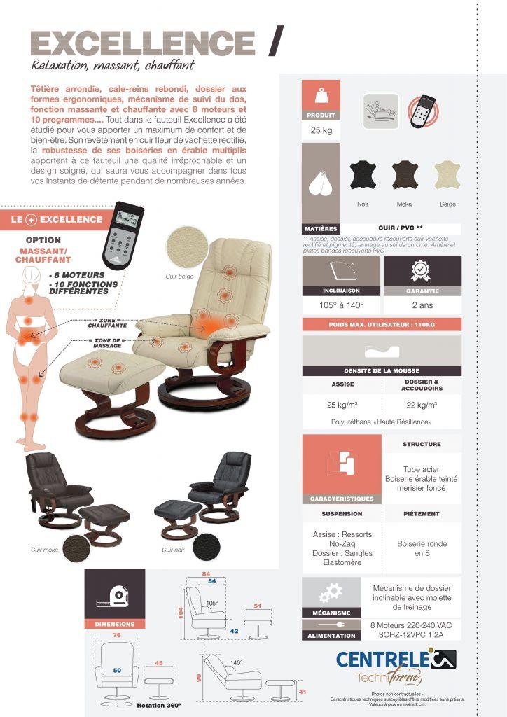 Fauteuil Relaxation Centrelec Techniform EXCELLENCE